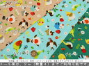 『ハナトリドリ』design by noriコットン100%シーチングプリント素材:コットン100% 生地幅:約108cm