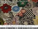 『Fashionable flower《ファッショナブルフラワー》』ハーフリネン10番オックスプリント素材:コットン45%リネン55% …