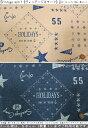 『Vintage motif《ヴィンテージモチーフ》』約150cmワイド幅ミニ裏毛ニット素材:ポリエステル80%・コットン20% 生…