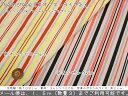 【50cm単位】『Neon stripe《ネオンストライプ》』コットン100%ストライプリップルプリント蛍光/女の子/男の子/ワンピース/生地/手作り/ウェアー/小物/服/浴衣/甚平/