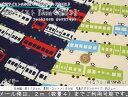 北欧テイスト『Juna≪電車≫』コットン100%オックスプリント●素材:コットン100% ●生地幅:約110cm