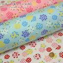 『かわいいあじさいの花』コットン100%ブロードプリント素材:コットン100% 生地幅:約108cm北欧風/アジサイ/花柄/…