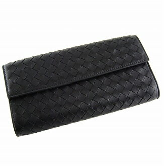 ボッテガ Benatar [BOTTEGA VENETA] hook type 150509 V001N 1000 lambskin (black) wallet brand new article SALE