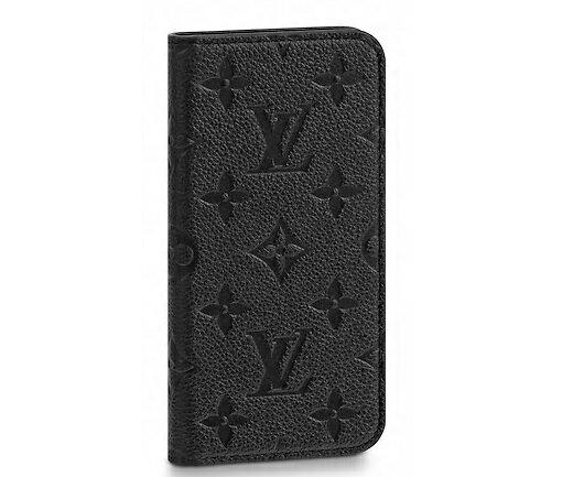 【ルイヴィトン IPHONEX・フォリオ アンプラント/ ノワール 】 LOUIS VUITTON M63586  iPhoneカバー【Luxury Brand Selection】