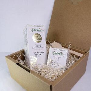 タルトゥフランゲ社 白トリュフオイル 100ml 白トリュフ塩 30g セット 高級 ギフト 木のスプーン・ボックス付 イタリア産 プレゼント 食品
