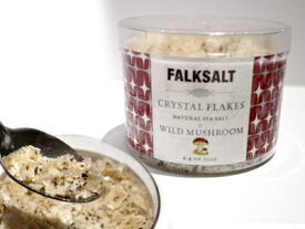 FALKSALT 塩 地中海クリスタルフレークソルト ワイルド・マッシュルーム 1ケース(125g×10個入り)ギリシャ産
