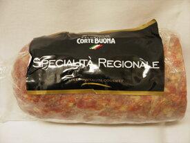 コルテボーナ サラミ ソプレッサ ヴェネタ イタリア産 約1.3〜1.5kg 【100g当たり465円で再計算】おつまみ にんにくの香り 粗挽き
