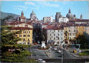 1960年発行のイタリアのブレシアの風景の絵はがきお部屋のインテリアにイタリアのアンティークショップで見つけた絵ハガキと切手と雑貨