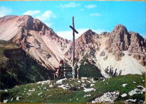 1960年発行のイタリアのドロミテ,アルプスの風景の絵はがきお部屋のインテリアにイタリアのアンティークショップで見つけた絵ハガキと切手と雑貨