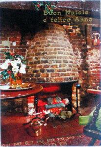 1982年発行のイタリアのクリスマスの風景の絵はがきお部屋のインテリアにイタリアのアンティークショップで見つけた絵ハガキと切手と雑貨