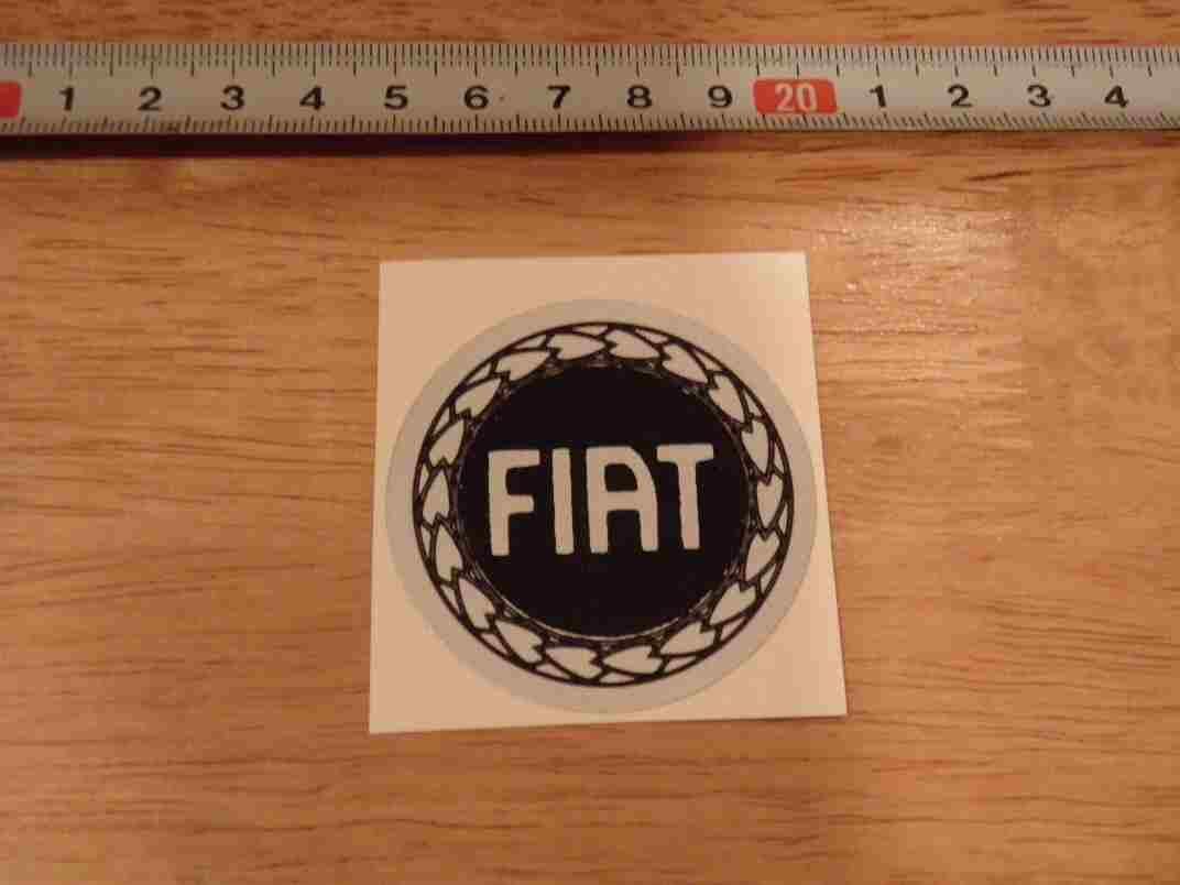 FIAT★車のステッカー,シールイタリア国内販売用