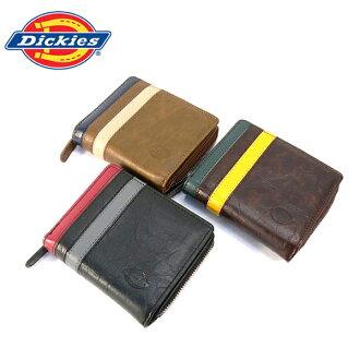 Dickies钱包Dickies硬币袋对开钱包钱包硬币袋钱包二线PU皮革(3色/黑色棕色浅褐色)