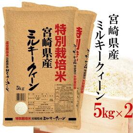 新米 精米 令和元年産 特別栽培米 伊丹米 御中元 宮崎県産ミルキークイーン 10kg(5kg×2) 白米