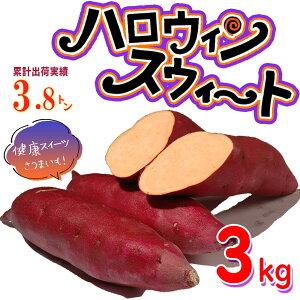【送料無料・ポイント5倍】ハロウィンスイート 3kg【特Aクラス 希少 さつまいも 2019 秋 新芋 土付き お買い得】はろうぃんすいーと 健康 焼き芋 やきいも 焼芋 サツマイモ さつま芋 薩摩芋 ス