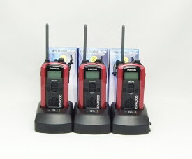 (3組セット 3連結急速) ケンウッド インカム/特定小電力トランシーバーUBZ-LP20(レッド)新4点セットx3組 3連結急速充電器採用 (免許不要) (送料・代引手数料無料)