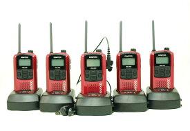 (5組セット) ケンウッド インカム/特定小電力トランシーバーUBZ-LS20(レッド)新4点セットx5組の更にお得なセット 急速充電器採用 (送料無料)
