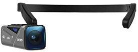 EP7 最新型 Vlog 4K 60FPS ビデオカメラ ウェアラブル式 ビデオカメラ FPV設計 二軸防振搭載 IP65防水 WI-FIアプリ制御 オートフォーカス 64G Micro SDカード 付随 W1リモコン キャリングケース