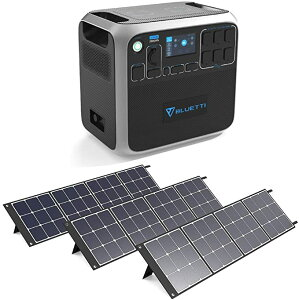 Iポータブル電源 ソーラーパネル120w3枚付き 超大容量2000Wh 高出力2000W 家庭用蓄電池 PSE認証済 純正弦波