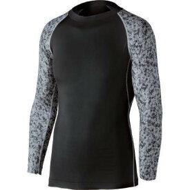 おたふく 冷感・消臭パワーストレッチ長袖クルーネックシャツ ブラック×迷彩:JW-623<おたふく手袋>