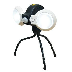 LEDどこでもセンサーライトダブル(電池式2灯タイプ):ASL-092<ライテックス・ムサシ>
