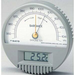 バロメックス気圧計(温度計付):No.7612-00<佐藤計量器>
