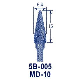 東京オートマック 木彫機 回転工具用 超硬バー MD-10(5B−005) #3400<AUTOMACH>