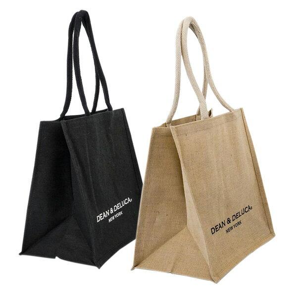 DEAN&DELUCA ディーン&デルーカ キャンバストートバッグ ニューヨーク限定 生成り/黒 2色 送料無料