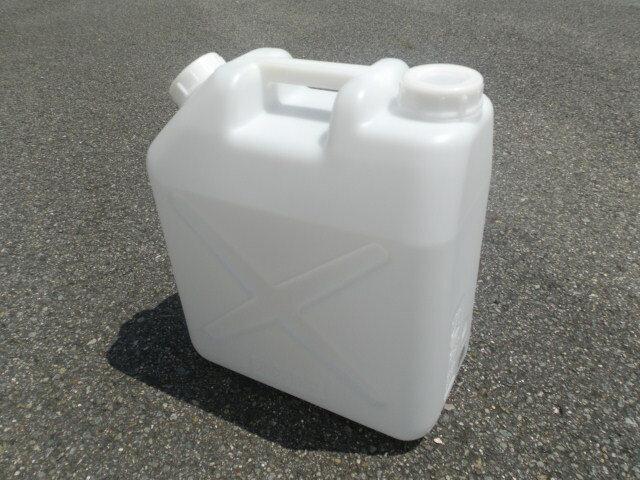 【20L ポリ缶(白)】 【10個セット】【ノズル無し】 【送料込み】 【水缶】 【防災】 【災害】 【貯水】 【レジャー】 【ポリ容器】 【ポリタンク】 【20L】 【水タンク】 【ポリ缶】
