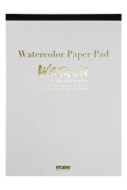 【メール便OK】ミューズ 水彩紙 ホワイトワトソンパッド A4 190g ホワイト 15枚入り PD-6244 A4