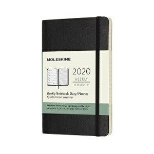 モレスキン 2020年 手帳 ダイアリー ウィークリー ソフト ポケット ブラック 1月始まり 12ヶ月 DSB12WN2Y20