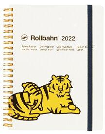 デルフォニックス 2022年 手帳 ロルバーンダイアリー A5 (マンスリー) タイガー 120023-100 ホワイト