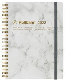 デルフォニックス 2022年 手帳 ロルバーンダイアリー A5 (マンスリー) ストーン 120033-100 ホワイト