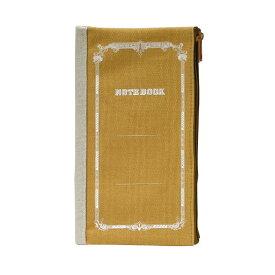 【メール便OK】エムプラン/M-PLAN 二つ折りペンケース ツバメ カラシ 010101-23-150 ツバメノート ペンポーチ CUBIX