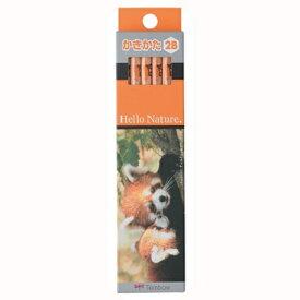 【メール便OK】トンボ鉛筆 かきかた鉛筆 ハローネイチャー レッサーパンダ 2B KB−KHN LP