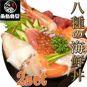 【特選】 8種の 海鮮丼 2食 セット ( 本マグロ 鯛 カンパチ サーモン イカ ホタテ 海老 いくら ) お刺身 敬老の日 魚 お取り寄せ 刺身セット 刺し身 美味しい お取り寄せグルメ 冷凍 海鮮セ