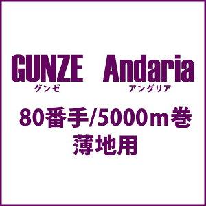 グンゼアンダリア80番5000m巻◆透明糸 薄地用 GUNZE Andaria ナイロンモノフィラメントミシン糸
