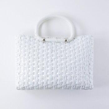 ◆Dハンドルトートバッグキット(3397-エナメルホワイト)◆Marchenartメルヘンアートラメルヘンテープ