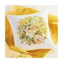 ◆刺繍キット No.5991 イエローローズ クッションカバー 中級◆オリムパス Olympus クロスステッチ