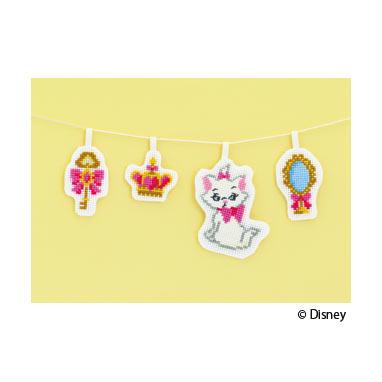 ◆No.9048 マリー(ガーランド)◆オリムパス(Olympus):ディズニー(Disney)キャラクター クロスステッチ 刺しゅうキット。インテリア Mickey Mouse