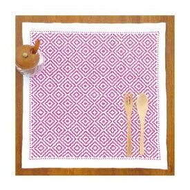 ◆SK-295 柿の花◆オリムパス 刺し子キット 図案プリント済み 一色刺 刺繍キット 花ふきん 一色刺し こぎん刺し 刺繍キット
