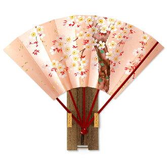 附带高级的装饰京都扇子★/樱花粉红/台
