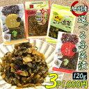 1000円ポッキリ 送料無料 4種から選べる高菜漬け 120g×3袋セット(ゆずこしょう高菜 たかな油炒め 辛子高菜の油炒め …