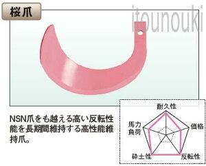 太陽 三菱ロータリー用 桜爪 42本セット [THA90011] 適合をお確かめ下さい