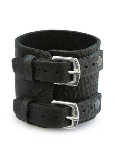 gbb custom leather(gbb カスタム レザー)【Rosie's Wrist Brace (ブラック / ブルハイド) ロージーズ リスト ブレスレット】[正規品](レザー/バックル/ベルト/ステンレス/シルバー/銀/革/ブラック/黒/ユニセックス/メンズ/レディース)【送料無料】