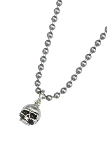 gbb custom leather(gbb カスタム レザー)Sterling Skull Pendant / スカルペンダント ネックレス ドクロ 髑髏 骸骨 シルバー 銀 ボールチェーン メンズ レディース【送料無料】
