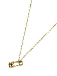 【※ポイント5倍※】GILES & BROTHER(ジャイルス・アンド・ブラザー)【SAFETY PIN TINY CHARM (Gold vermeil) / セーフティー ピン タイニー チャーム】[正規品](ネックレス/ペンダント/調節可能/メンズ/