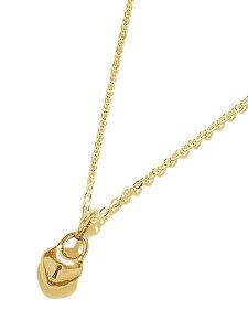 【※ポイント5倍※】GILES & BROTHER(ジャイルス・アンド・ブラザー)【HEART LOCKET TINY CHARM (Gold vermeil) / ハート ロケット タイニー チャーム】[正規品](ネックレス/ペンダント/調節可能/ホース