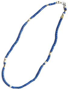 【※ポイント5倍※】GILES & BROTHER(ジャイルス・アンド・ブラザー)【Large Vintage African Bead Necklace / ラージ ヴィンテージ アフリカン ビーズ ネックレス (ブルー)】[正規品](ブレスレット/アン