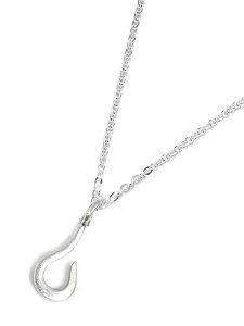 【※ポイント5倍※】GILES & BROTHER(ジャイルス・アンド・ブラザー)【Tiny Fish Hook Necklace Silver / タイニー フィッシュ フック ネックレス シルバー】[正規品](ペンダント/チャーム/調節可能/メ