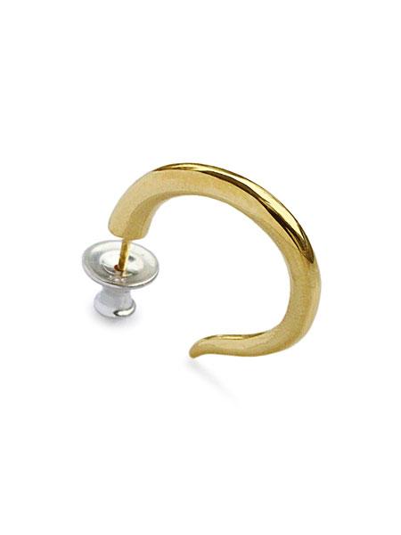 【※ポイント5倍※】HARIM(ハリム)【horn pierce K18coat / ホーンピアス】[正規品](耳飾り/イヤリング/キャッチ/パーツ/銀/925/シンプル/ペア/プレゼント/ギフト/ユニセックス/メンズ/レディース)